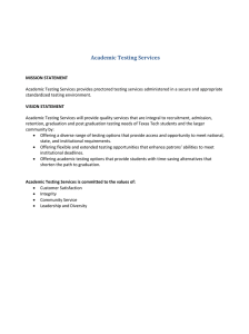 Academic Testing Services