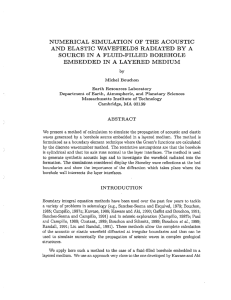 NUMERICAL SIMULATION OF THE ACOUSTIC AND ELASTIC WAVEFIELDS RADIATED BY A