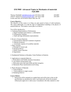 EM 590F- Advanced Topics in Mechanics of materials Fall 2005
