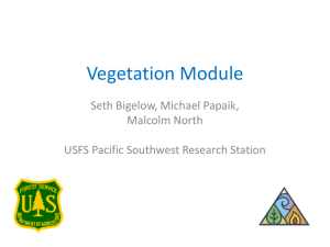Vegetation Module Seth Bigelow, Michael Papaik, Malcolm North USFS Pacific Southwest Research Station