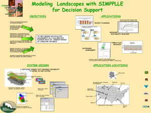 Modeling  Landscapes with SIMPPLLE for Decision Support OBJECTIVES APPLICATIONS