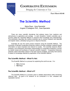 C E The Scientific Method OOPERATIVE