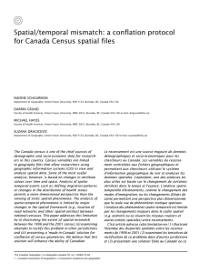 Spatial/temporal mismatch: a conflation protocol for Canada Census spatial files NADINE SCHUURMAN