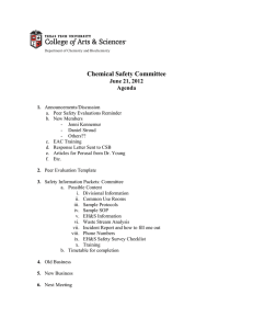 Chemical Safety Committee June 21, 2012 Agenda