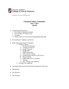 Chemical Safety Committee July 5, 2012 Agenda