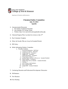 Chemical Safety Committee July 19, 2012 Agenda