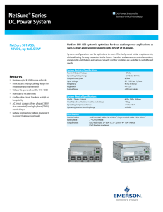 NetSure Series DC Power System NetSure 501 A50: