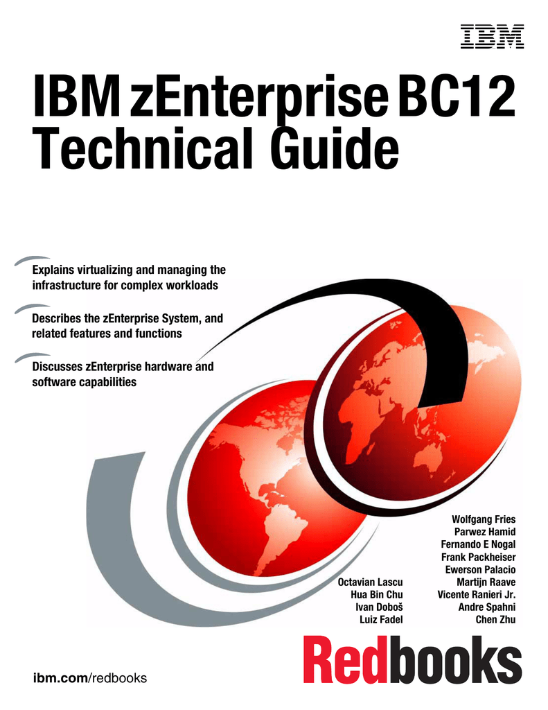 IBM zEnterprise BC12 Technical Guide Front cover