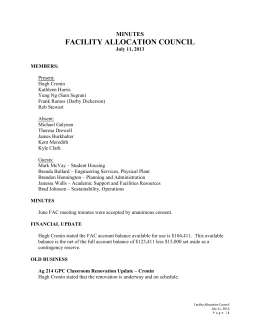 FACILITY ALLOCATION COUNCIL MINUTES