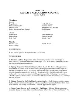 FACILITY ALLOCATION COUNCIL MINUTES Members: