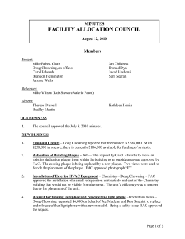 FACILITY ALLOCATION COUNCIL MINUTES Members
