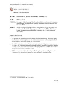 Operating Policy and Procedure January 21, 2015
