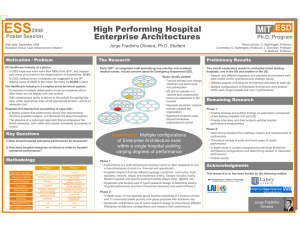ESS MIT ESD High Performing Hospital