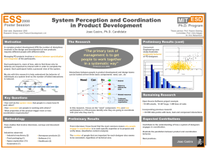 ESS MIT ESD System Perception and Coordination