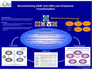 Benchmarking USAF and USN Lean Enterprise Transformation Change Drivers