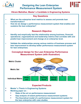 Designing the Lean Enterprise Performance Measurement System
