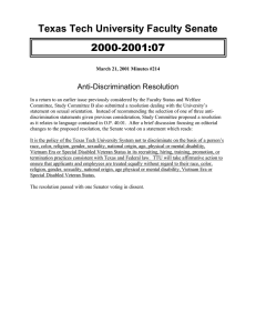 2000-2001:07 Texas Tech University Faculty Senate Anti-Discrimination Resolution