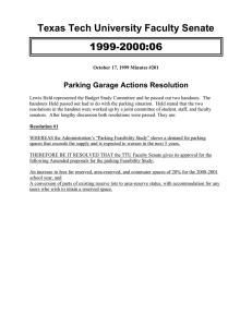 1999-2000:06 Texas Tech University Faculty Senate Parking Garage Actions Resolution