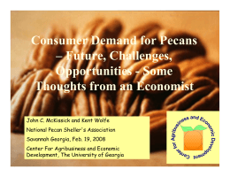 Consumer Demand for Pecans – Future, Challenges, Opportunities - Some
