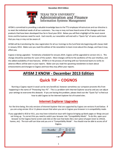 AFISM is committed to providing a valuable knowledge base to... December 2013 Edition