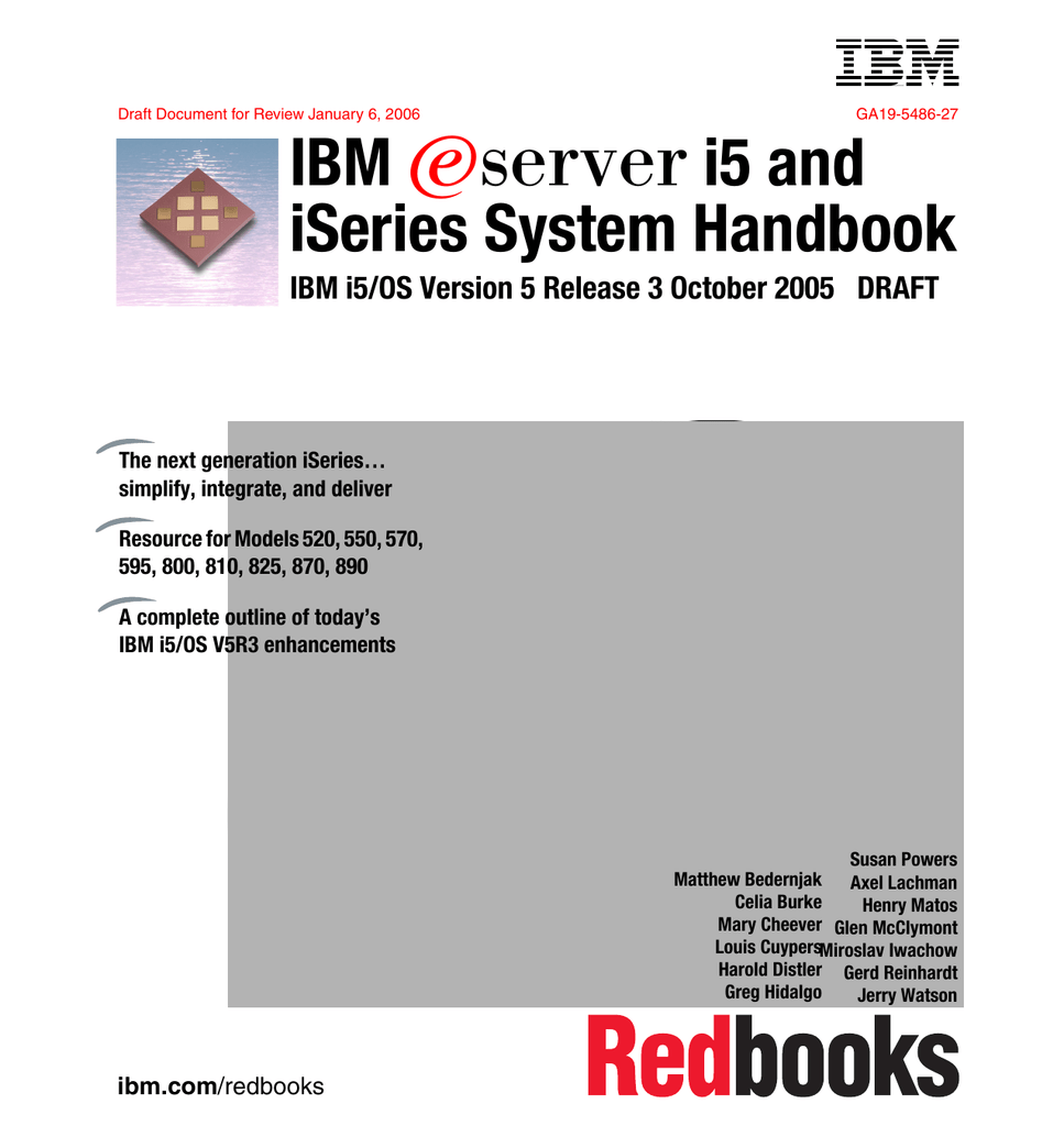 IBM iSeries System Handbook E i5 and