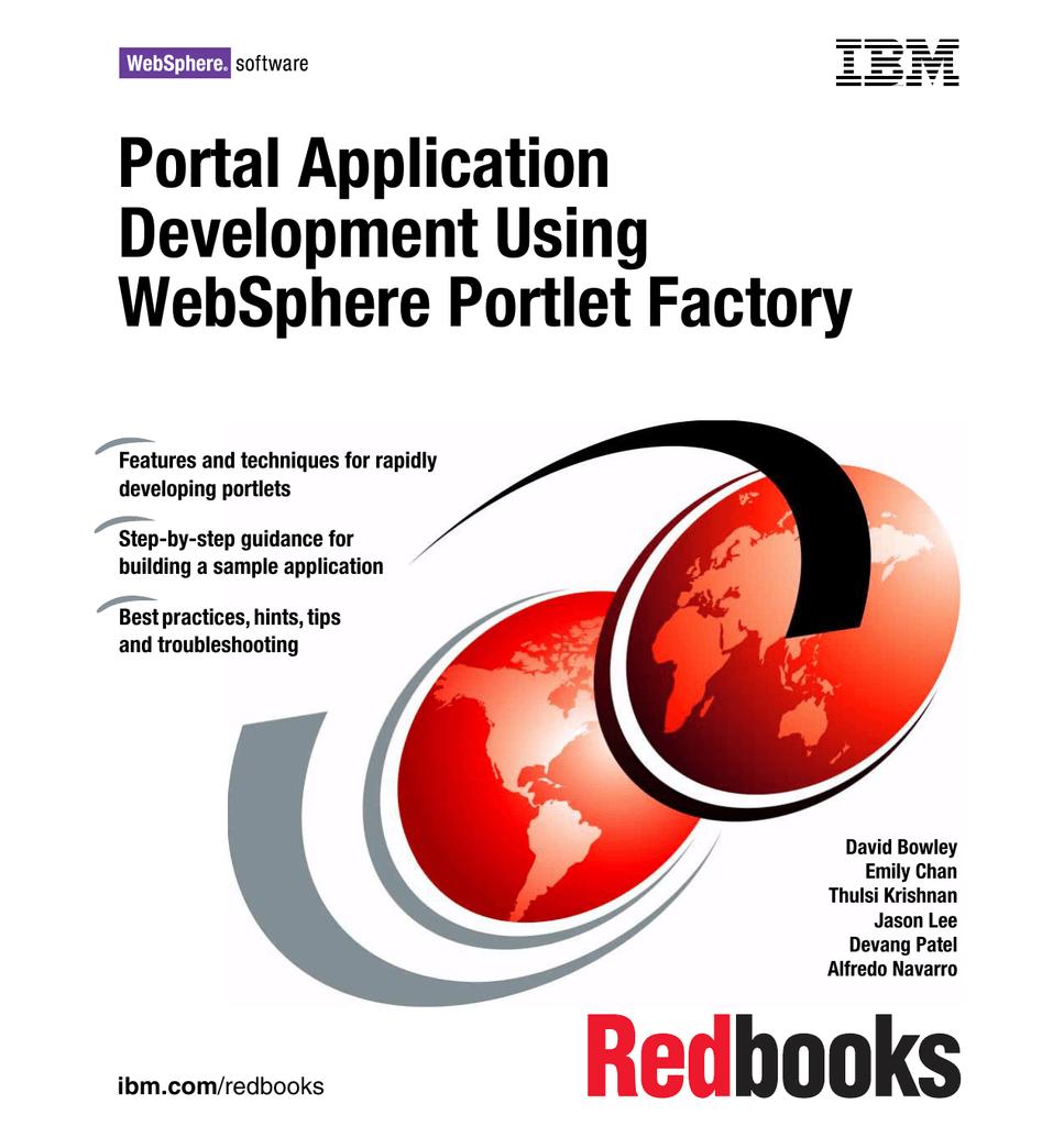 Portal Application Development Using WebSphere Portlet