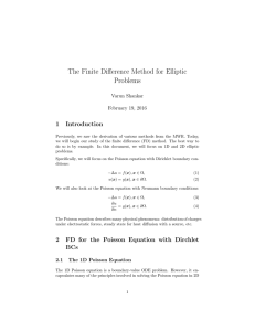 The Finite Difference Method for Elliptic Problems 1 Introduction