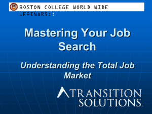 Mastering Your Job Search Understanding the Total Job Market