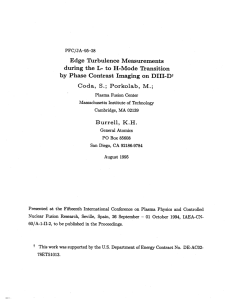 Edge  Turbulence  Measurements S.; Burrell,  K.H.