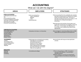 ACCOUNTING What can I do with this degree? STRATEGIES AREAS