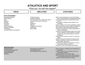 ATHLETICS AND SPORT What can I do with this degree? STRATEGIES AREAS