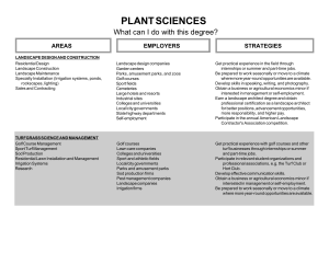 PLANT SCIENCES What can I do with this degree? STRATEGIES AREAS