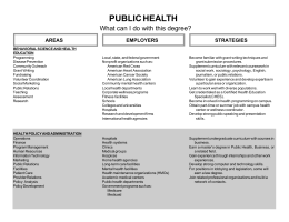 PUBLIC HEALTH What can I do with this degree? STRATEGIES AREAS