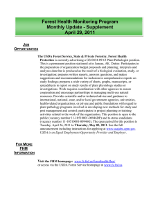 Forest Health Monitoring Program Monthly Update - Supplement April 29, 2011 J