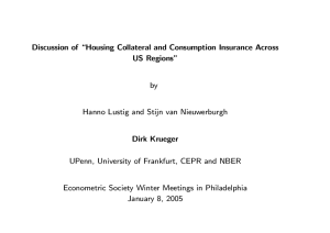 "Discussion of \Housing Collateral and Consumption Insurance Across US Regions"" by"