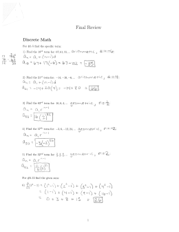 Final Review Discrete Math 'Z 25