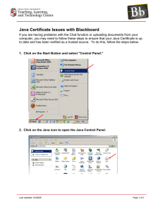 Java Certificate Issues with Blackboard