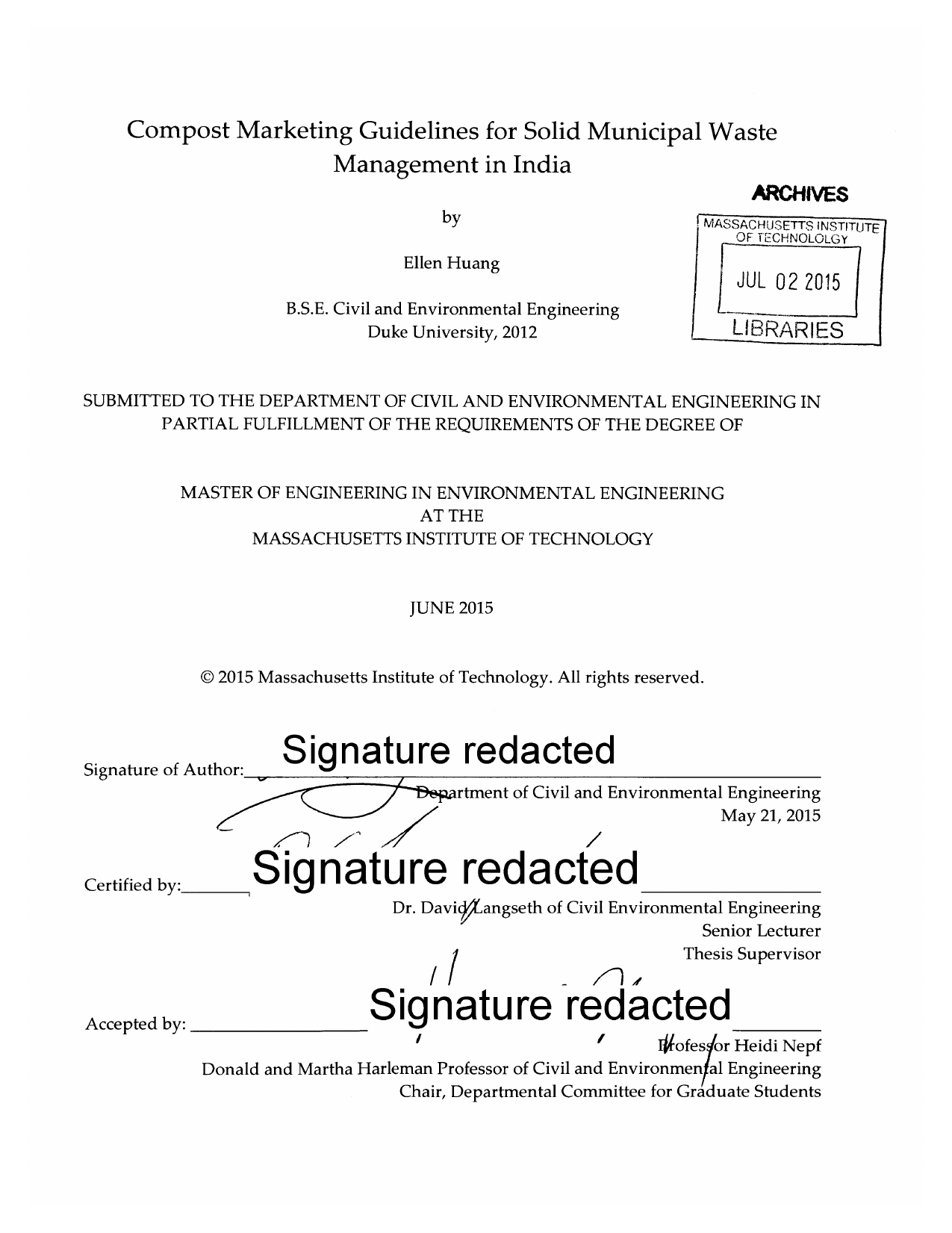 thesis on municipal solid waste management in india