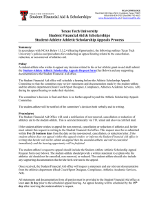 Texas Tech University Student Financial Aid & Scholarships