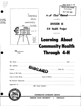 [P\ Learning About Through 4-H Community Health