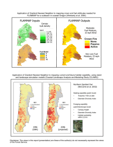 Application of Gradient Nearest Neighbor to mapping crown and fuel... FLAMMAP for a subbasin in coastal Oregon (Wimberly et al....