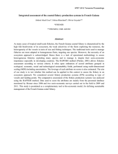 Integrated assessment of the coastal fishery production systems in French...  Abstract