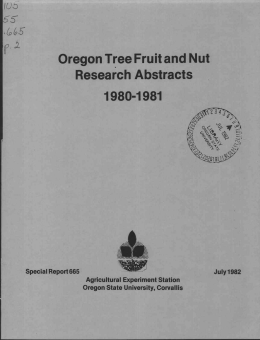 Oregon Tree Fruit and Nut Research Abstracts 1980-1981 10c