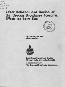 Labor Relations and Decline of the Oregon Strawberry Economy: