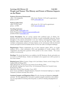 People and Nature: The History and Future of Human Impacts Sociology