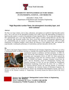 Texas Tech University  PRESIDENTS' DISTINGUISHED LECTURE SERIES