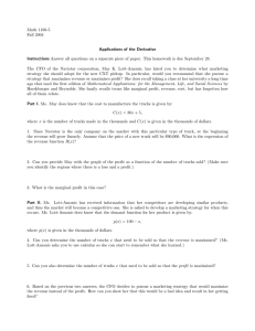 Math 1100-5 Fall 2004 Applications of the Derivative Instructions