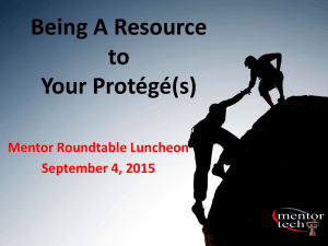 Being A Resource to Your Protégé(s) Mentor Roundtable Luncheon