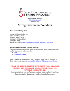 String Instrument Vendors