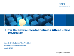 How Do Environmental Policies Affect Jobs? -- Discussion RFF First Wednesday Seminar